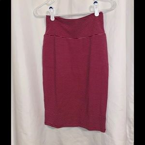 LuLaRoe Red and White Cassie Skirt XS